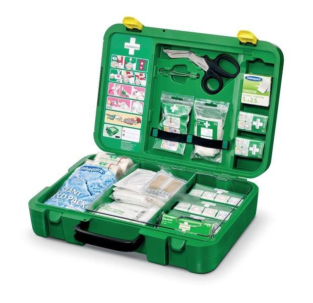 Cederroth Erste-Hilfe-Koffer inklusive separatem Pflasterspender, DIN 13157