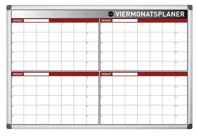 Bi-Office 4-Monats-Planungstafel, magnetisch