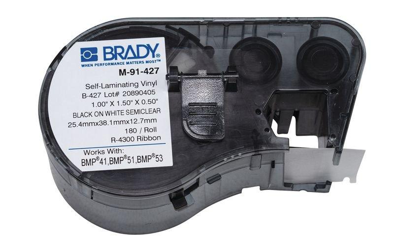 BRADY Kabeletiketten für BMP41/51/53, selbstlaminierend