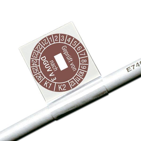Geprüft von, nach DGUV V3, K1/K2 - Kabelprüfplaketten