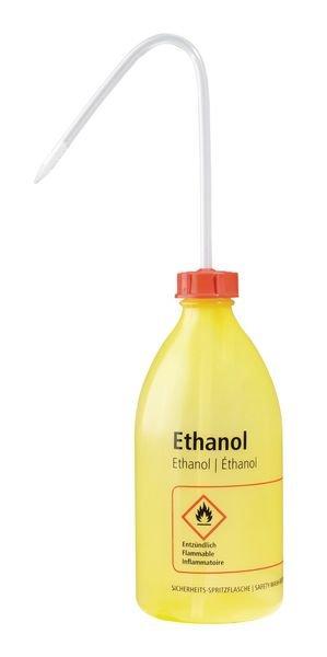 Enghalsflaschen – Labor-Sicherheitsspritzflaschen mit GHS/CLP-Kennzeichnung