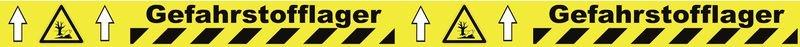 Warnung vor umweltgefährlichen Stoffen - Bodenmarkierbänder für Gefahrstofflager, staplergeeignet