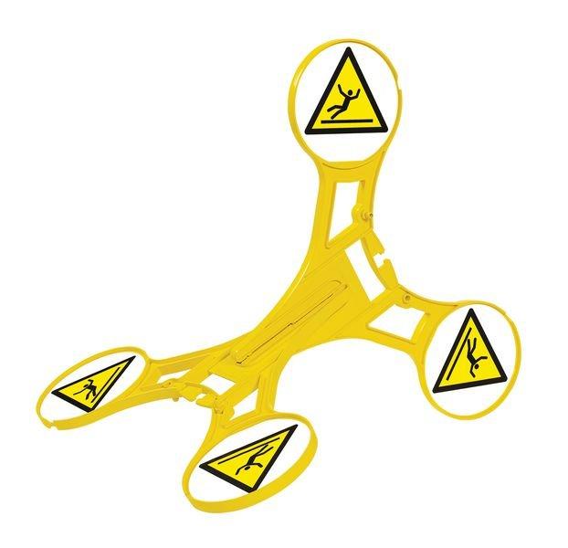 Warnung vor Rutschgefahr - SETON Warnaufsteller 360 mit Warnzeichen nach EN ISO 7010