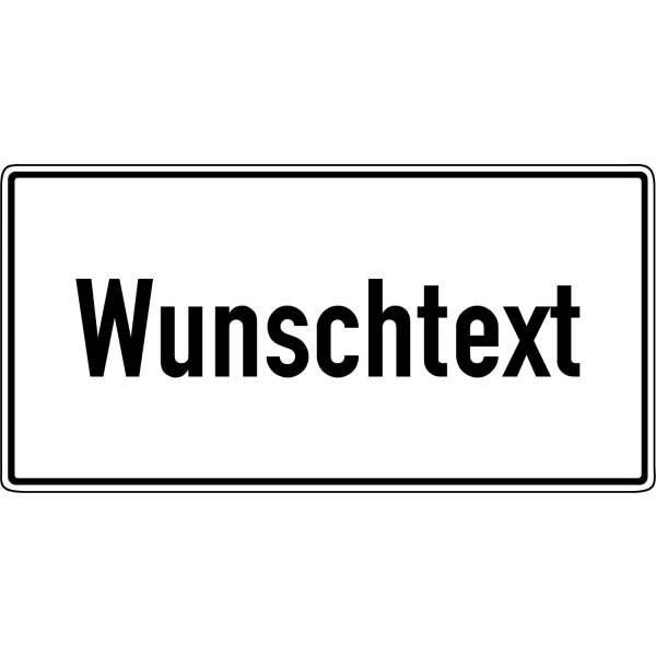 Parkgebots-Zusatzschilder mit Text nach Wunsch