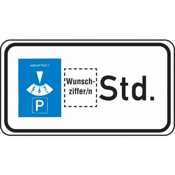 Verkehrszeichen-Zusatztafeln, individuell, mit Wunschziffer