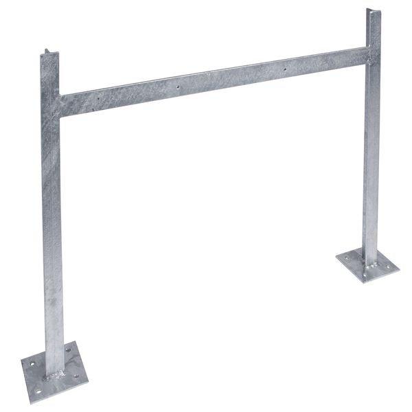 Ständer zur Bodenbefestigung - PREMIUM Parkplatz-Reservierungsschilder, Aluminium