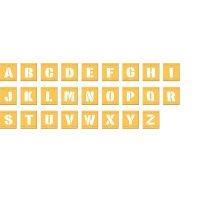 Buchstaben – Schablonen-Set aus Kunststoff