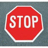 Halt! Vorfahrt gewähren – Asphaltfolie zur Straßenmarkierung, R10 gemäß DIN 51130/ASR A1.5/1,2