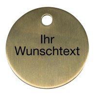 Schlüssel-/Ventilmarken mit Gravur nach Wunsch, Aluminium oder Messing