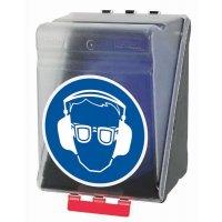 Augen- und Gehörschutz benutzen - Aufbewahrungsboxen für Kombi-Schutzausrüstung