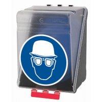 Helm und Augenschutz benutzen - Aufbewahrungsboxen für Kombi-Schutzausrüstung