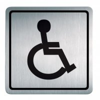 "Alu- / Edelstahl-Symbol-Schilder ""Behinderten WC"""