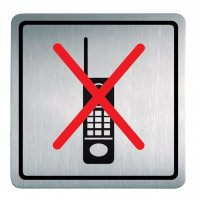 "Edelstahl-Symbol-Schilder ""Handys verboten"""