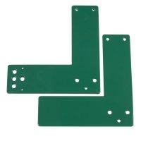 Stahl-Montageplatte für Glasrahmentüren – Türwächter mit Voralarm