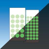 Markierungspunkte zur Boden-Fluchtwegkennzeichnung, langnachleuchtend