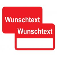 Aufkleber zur Fahrzeugkennzeichnung mit Text nach Wunsch
