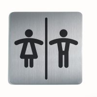 WC Damen / Herren - DURABLE Design-Piktogrammschilder, quadratisch