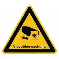 """Warnzeichen-Schilder mit Piktogramm und Hinweis """"Videoüberwachung"""""""