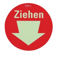 Ziehen - Einseitige Fluchtwegkennzeichnung, langnachleuchtend