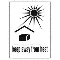 Vor Hitze schützen - Transportaufkleber Luftverkehr