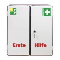 Erste-Hilfe-Schränke, Stahl, zweitürig, DIN 13169