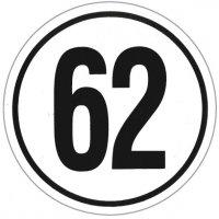 Geschwindigkeitsschilder – Schilder mit km/h-Angaben, Schwarz/Weiß
