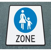 Fußgänger-Zone – Asphaltfolie zur Straßenmarkierung, R10 gemäß DIN 51130/ASR A1.5/1,2