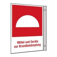 """Brandschutzzeichen-Kombi-Schilder """"Mittel- und Geräte zur Brandbekämpfung"""""""