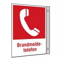 """Brandschutzzeichen-Kombi-Schilder """"Brandmeldetelefon"""""""