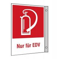 """Brandschutzzeichen-Kombi-Schilder """"Feuerlöscher - Nur für EDV"""""""