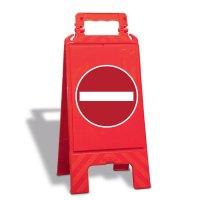 Verbot der Einfahrt - Warnaufsteller mit Sicherheitssymbolen, EN ISO 7010