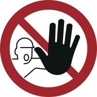 Zutritt für Unbefugte verboten - Verbotszeichen zur Bodenmarkierung