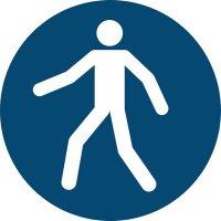"""Antirutsch-Bodenmarkierung """"Fußgängerweg benutzen"""""""