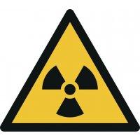 """Warnzeichen """"Warnung vor radioaktiven Stoffen oder ionisierender Strahlung"""" nach EN ISO 7010"""