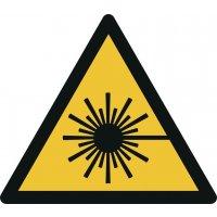"""Warnzeichen """"Warnung vor Laserstrahl"""" nach EN ISO 7010"""