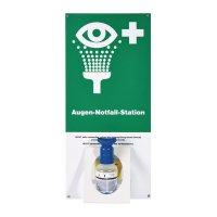 Augen-Notfall-Station mit Anwendungshinweis