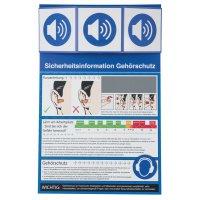Gehörschutz - Sicherheitsinformationen für den Arbeitsplatz