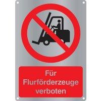 """Kombi-Verbotszeichen-Schilder """"Für Flurförderzeuge verboten"""" nach EN ISO 7010"""