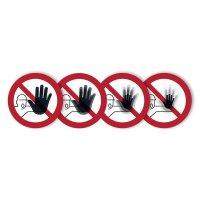 Zutritt für Unbefugte verboten - SETON MOTION® Verbotsschilder mit Lentikular-Effekt, Symbol in Anlehnung an EN ISO 7010