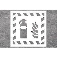 Feuerlöscher - Brandschutz-Schablonen zur Boden- und Wandmarkierung
