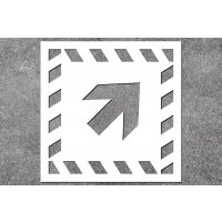 Richtungspfeil schräg - Brandschutz-Schablonen zur Boden- und Wandmarkierung