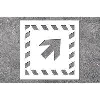 Pfeil schräg - Rettungszeichen-Schablonen zur Boden- und Wandmarkierung