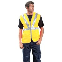 Warnwesten mit 1 oder 2 Schutzstreifen, EN ISO 20471:2013