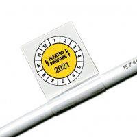 Elektro-Prüfung/Jahreszahl 4-stellig - Kabel-Prüfplaketten für die Elektrofachkraft