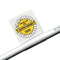 Geprüft nach VDE/Jahreszahl 4-stellig - Kabel-Prüfplaketten für die Elektrofachkraft