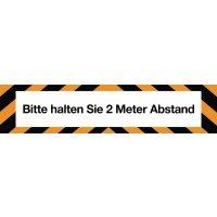 """Antirutsch-Bodenmarkierung """"Bitte halten Sie 2 Meter Abstand"""""""