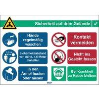 "Covid-19 Hygiene-Maßnahmen Schilder ""Hygiene-Regeln"""