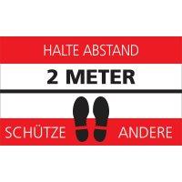 HALTE ABSTAND - SCHÜTZE ANDERE - SetonWalk Bodenmarkierung, R10 nach DIN 51130/ASR A1.5/1,2