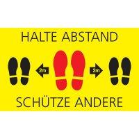 HALTE ABSTAND - SCHÜTZE ANDERE, seitlich - SetonWalk Bodenmarkierung, R10 nach DIN 51130/ASR A1.5/1,2