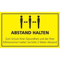 ABSTAND HALTEN in der Warteschlange - SetonWalk Bodenmarkierung, R10 nach DIN 51130/ASR A1.5/1,2